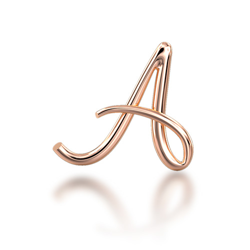 "Alphabets of Love - ""A"" in 18K Rose Gold"