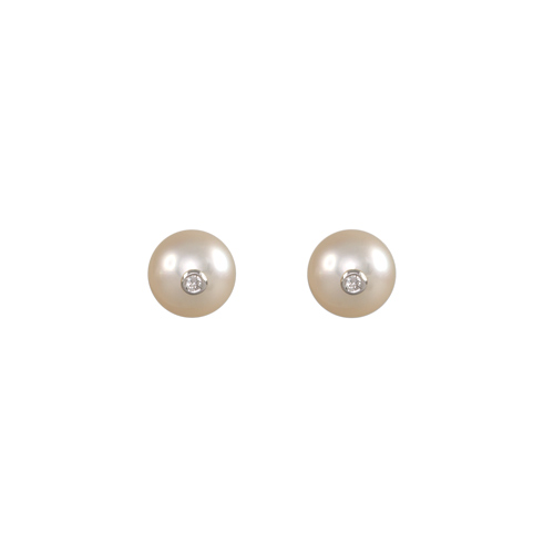 LAVERA Pearl and Diamond Earrings HE40032/40GM