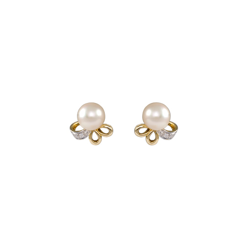 LAVERA Pearl and Diamond Earrings HE41003/41GM