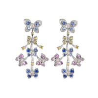 LAVERA Sapphire and Diamond Earrings HE51001/51GM