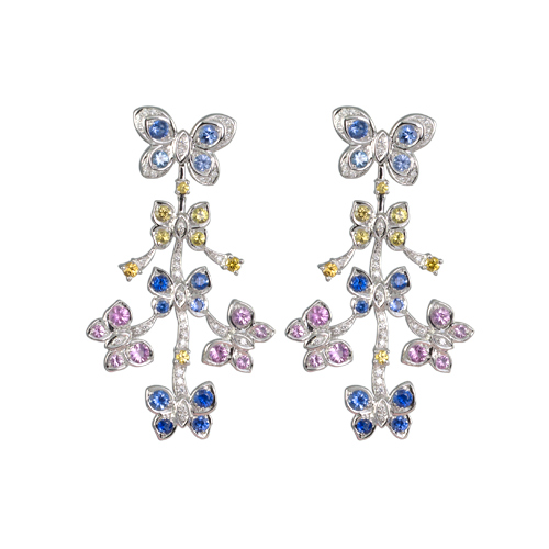 LAVERA Sapphire and Diamond Earrings