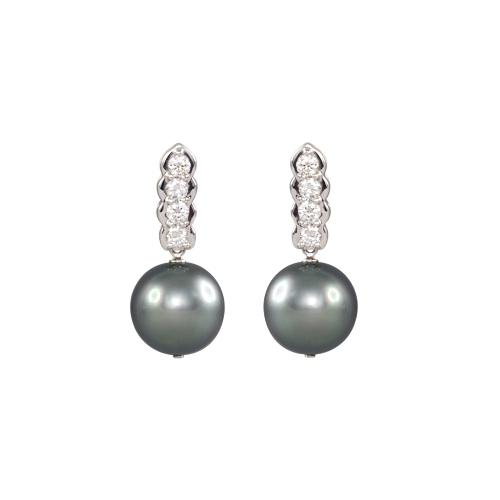 LAVERA Pearl and Diamond Earrings