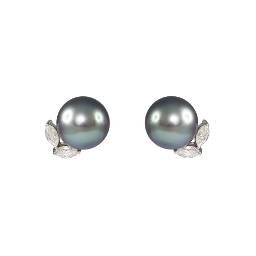LAVERA Pearl and Diamond Earrings HE58001/58GM