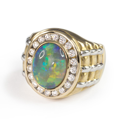 LAVERA Men's Opal and Diamond Ring HM46001/46GM