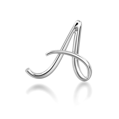 "Alphabets of Love - ""A"" in Silver"
