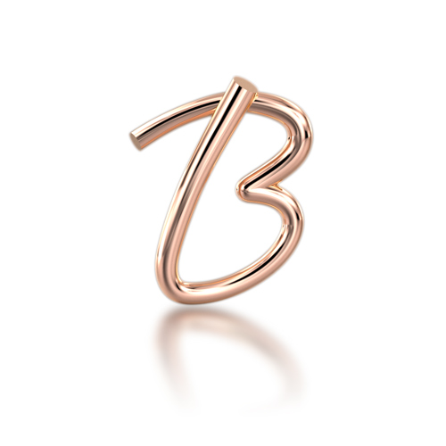 "Alphabets of Love - ""B"" in 18K Rose Gold"