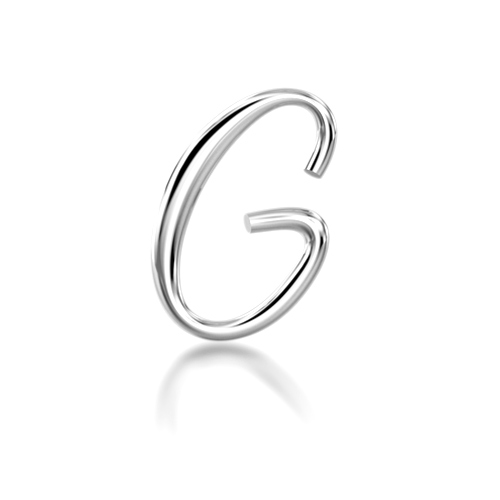 "Alphabets of Love - ""G"" in Silver"