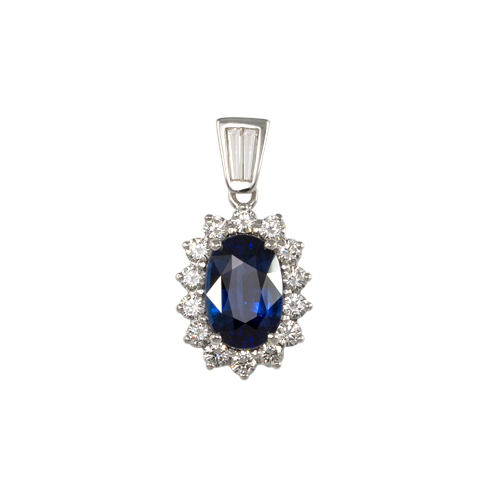 LAVERA Blue Sapphire and Diamond Pendant