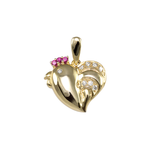 LAVERA Pink Sapphire and Diamond Pendant