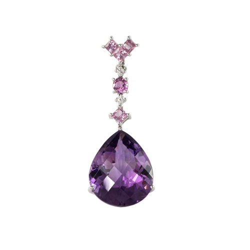LAVERA Amethyst and Diamond Pendant