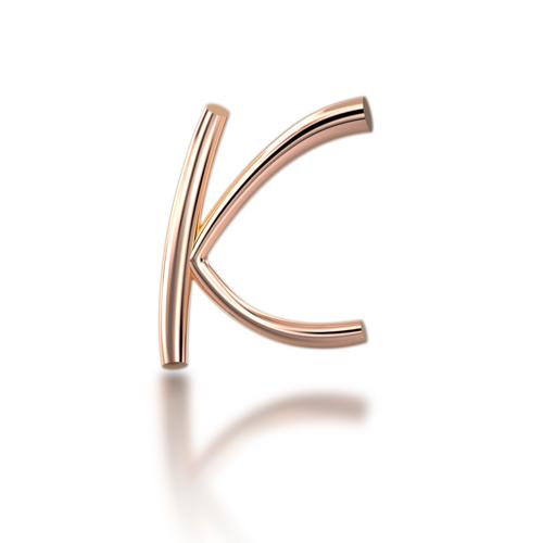 "Alphabets of Love - ""K"" in 18K Rose Gold LP_Alphabet_K_G"