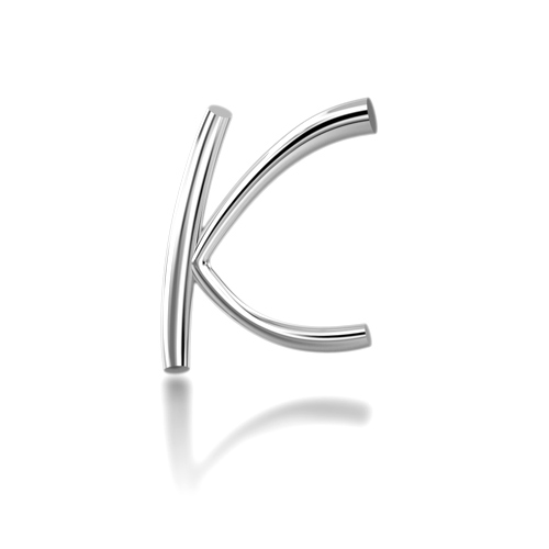 "Alphabets of Love - ""K"" in Silver"