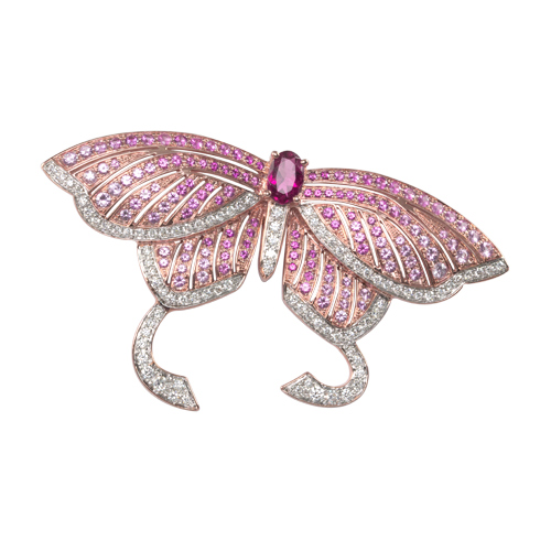 Gemstone and Diamond Brooch & Pendant