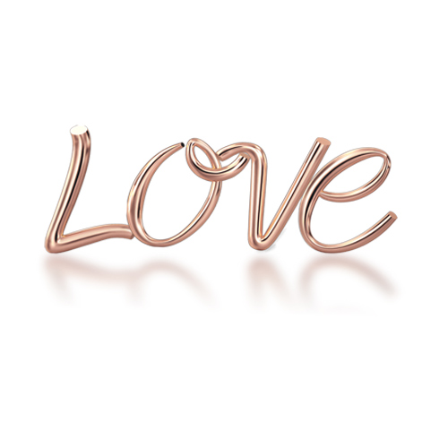 "Alphabets of Love - ""LOVE"" in 18K Rose Gold"