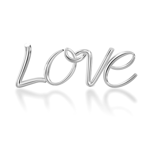 "Alphabets of Love - ""LOVE"" in Silver"