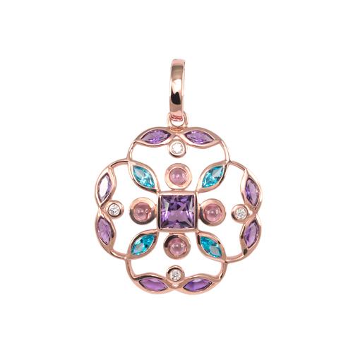 LAVERA Gemstone and Diamond Pendant