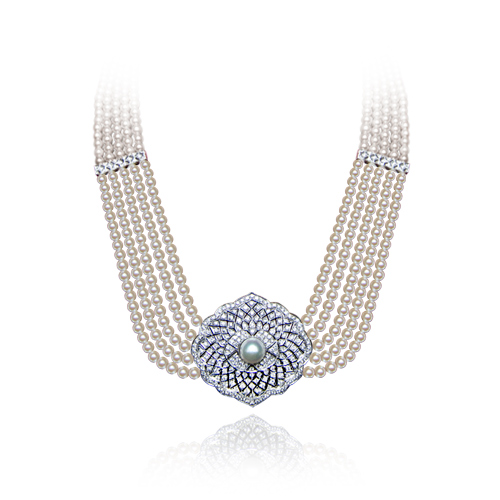 LAVERA Diamond & Pearl Necklace