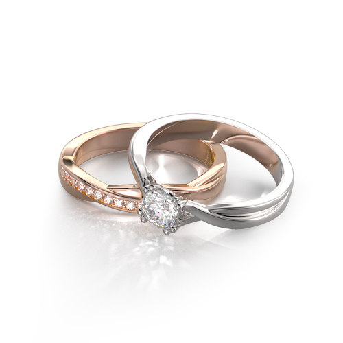 LAVERA Bridal Set (Matching Ring Set)