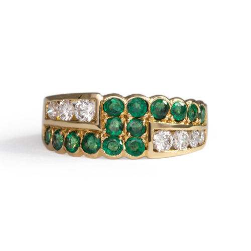 LAVERA Emerald and Diamond Ring HR00038/38GM