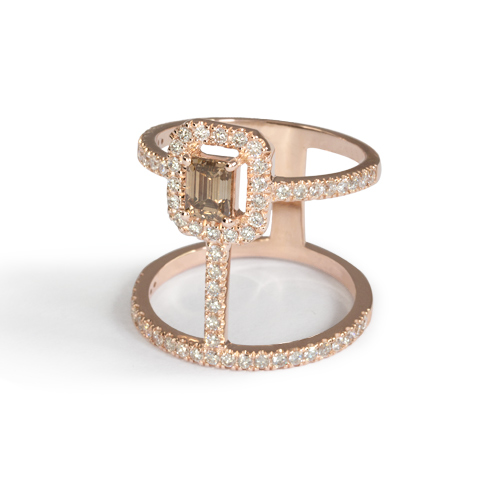 LAVERA Champagne Diamond Ring