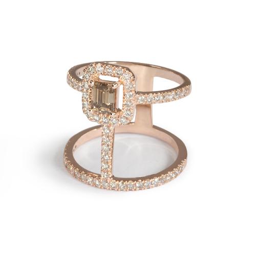 LAVERA Champagne Diamond Ring HR60004/60GM