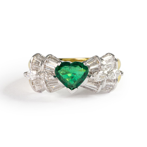 LAVERA Emerald and Diamond Ring HR00386/38GM