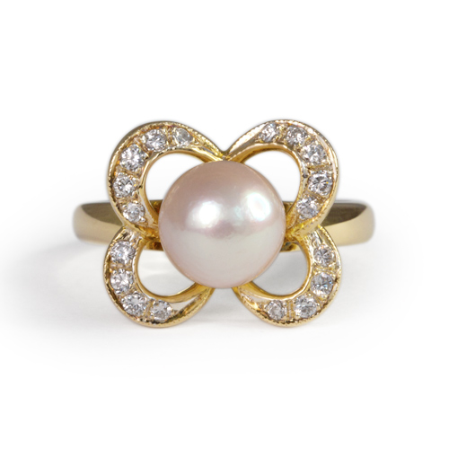 LAVERA Pearl and Diamond Ring HR00460/38GM