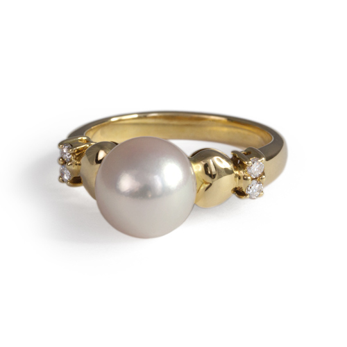 LAVERA Pearl and Diamond Ring HR00539/38GM