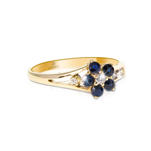 LAVERA Blue Sapphire and Diamond Ring