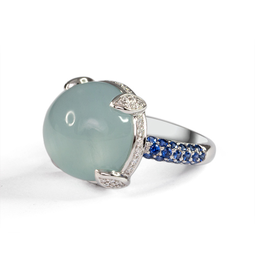 LAVERA Aquamarine  and Diamond Ring