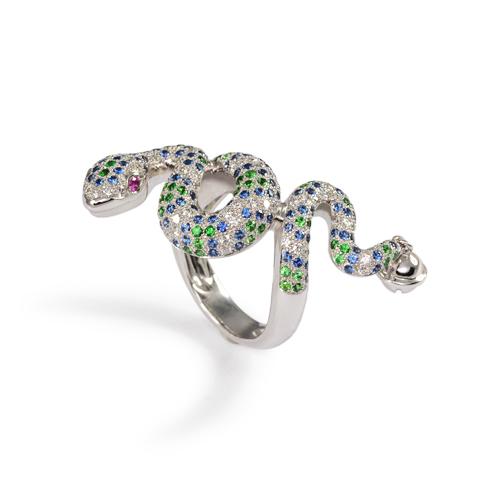 LAVERA Diamond and Sapphire Ring HR56001/56GM