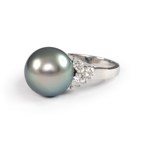 LAVERA Pearl and Diamond Ring HR58001/58GM