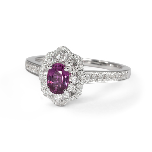 LAVERA Pink Sapphire and Diamond Ring LR59042/01GM
