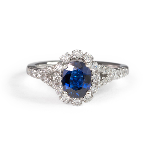 LAVERA Blue Sapphire and Diamond Ring LR59053/01GM