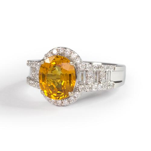 LAVERA Yellow Sapphire and Diamond Ring