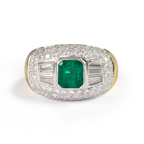 LAVERA Emerald and Diamond Ring HR00100/38GM