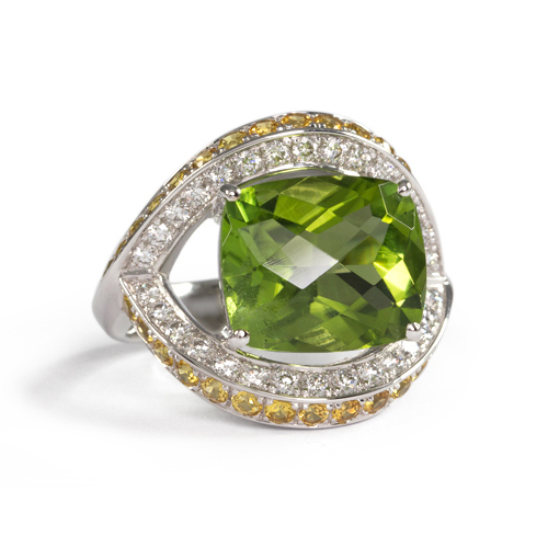 LAVERA Peridot and Diamond Ring HR48033/48GM
